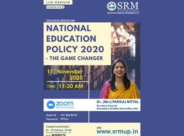 Webinar on National Education Policy 2020 - The Game Changer