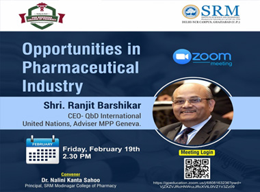 Virtual Meet on Opportunities in Pharmaceutical Industry